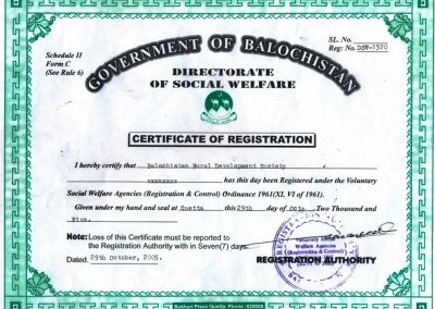 BRDS Registration Certificate